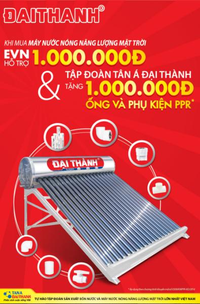 Chương trình khuyến mãi máy nước nóng năng lượng mặt trời